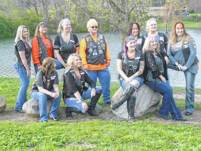 Members of the Chrome Divas Inc. In Greenville thus far are front row, from left to right, Beverly Deskin, Kasey Widener, Jennifer Deskin, and Shawn Spivy; and back row, Angela Gibbons, Stephanie Portemont, Tonja Rammel, Ann Horn, Gena Hoyt, Connie Smith and Deb Pollic.