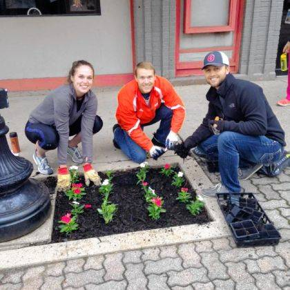 Volunteers will plant flowers at more than 70 locations throughout the downtown district during Main Street Greenville's Planting Day.