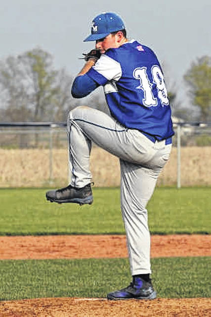 Franklin Monroe's seventh inning pitcher, Tim Lawson records a save.