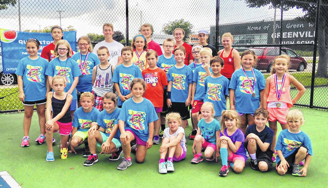 Youth in kindergarten through eighth grade can learn to play tennis in Greenville this summer.