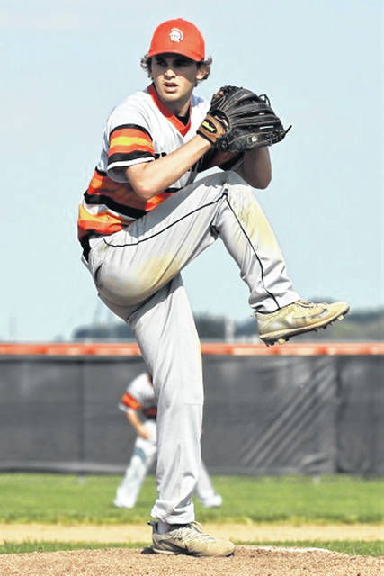 Arcanum's Wade Meeks tosses a complete extra-inning game to defeat Preble Shawnee and advance in tournament play.