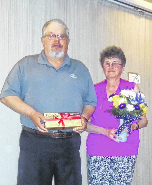 John and Sue Strawser were selected to be Darke County's Outstanding Senior Citizens of the Year, and were honored during Wednesday's Senior Day at Romer's in Greenville.