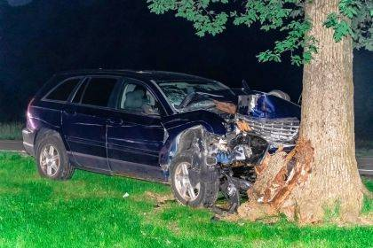 A Greenville driver lost control and hit a tree on Requarth Road.