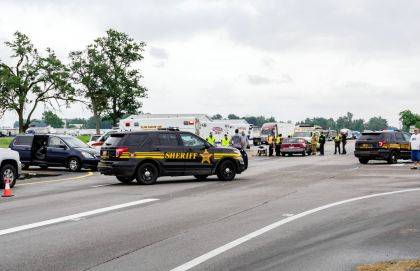New Madison Fire, Tri-Village and Greenville Township Rescue and Darke County Sheriff's Deputies responded to a two-vehicle crash scene. (Jim Comer   DarkeCountyMedia.com)