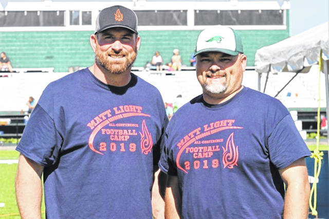 Greenville alums, Matt Light and Aaron Shaffer see the 2019 Matt Light All-Conference Football Camp through new era.