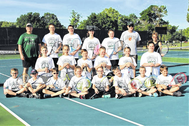 The Greenville campers, helper and coaches completer four days of tennis camp.