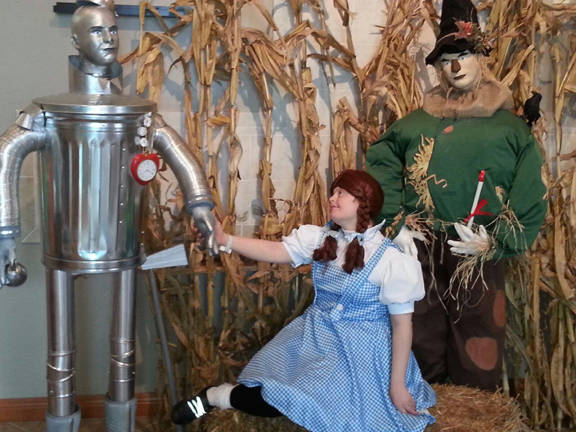 Provided photo A client dressed as Dorothy enjoys the Wizard of Oz display at Art Sense in Union City, Ohio.