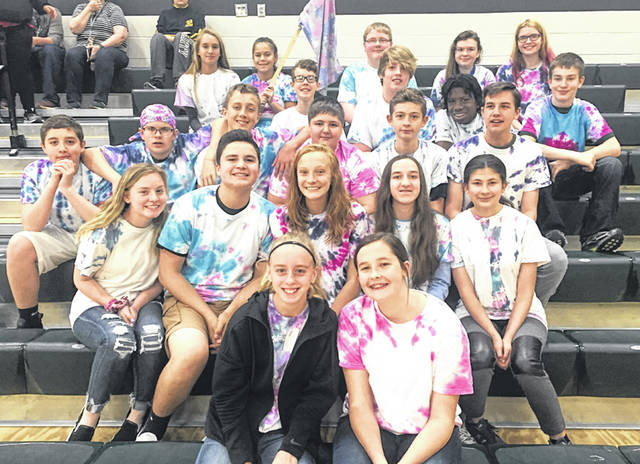 Earning the top spot in the Greenville Middle School-wide WAVE championship were students in Mrs. Heiser's WAVE class.