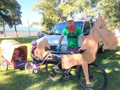 Decorate your bicycle and join DCP for the Annie Oakley Parade.