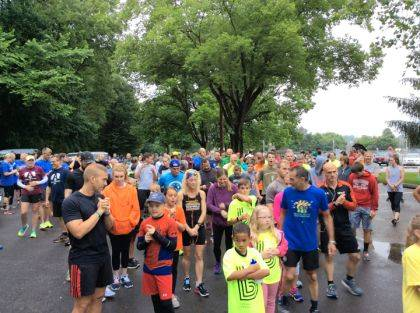 Rain didn't scare these 5K participants away from Big Brothers Big Sisters of Shelby & Darke County's 13th Annual Duck Derby & Duck-N-Run 5K.