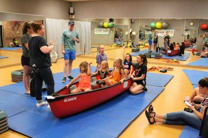 Children in the Swim Safely program at the YMCA of Darke County got a lesson in boat safety.