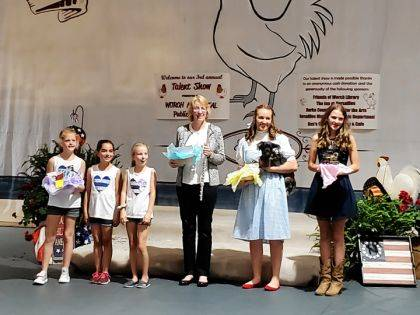 Shown are Kim Bohler, first; MC-MY_MX Dancing Squad with of Corynn Goubeaux, Jayln McEldowney, and Olivia Meyer, second; Morgan Heitkamp, third; and Lauren Rismiller, fourth.
