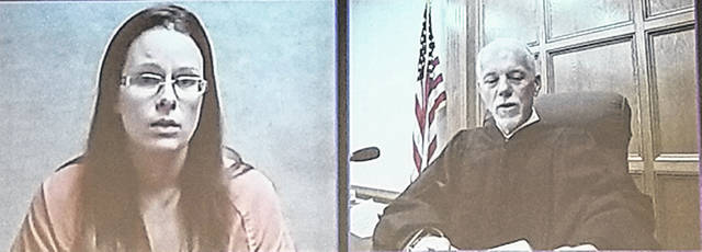 Bethany J. Royer-DeLong   Darke County Media Britany Keaser, 31, went before Judge Hein for one count of obstructing justice Tuesday.