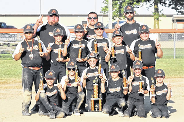 The 2019 Ansonia All-Star Tournament Championship team and coaches following their defeat of Celina to capture the 10U title.