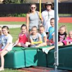 Hunt helps at track camp