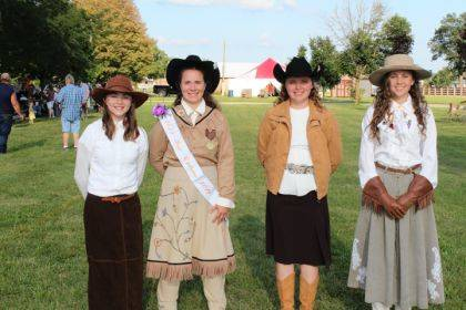 Finalists in this year's Miss Annie Oakley Shooting Competition were, from left to right, Isabella Gulley, Cierra Miller, Madison Werner and Lauren Wright. The winner will be featured in The Early Bird this weekend.