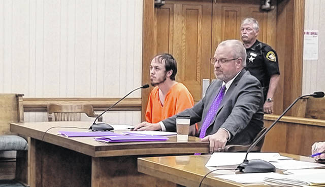 Bethany J. Royer-DeLong | Darke County Media Bradley S. Crum, 33, of Greenville, went before Judge Jonathan P. Hein on a breaking and entering charge in Darke County Common Pleas Court on Tuesday.