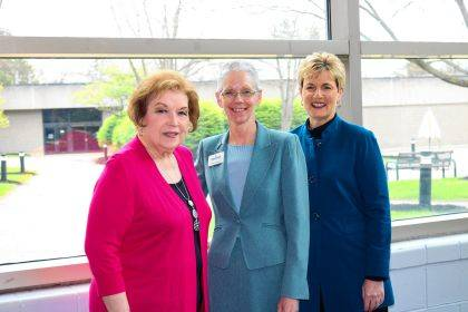 Shown are Edison State Board of Trustees Vice Chair Marvella Fletcher, Edison State President Dr. Doreen Larson, and Edison State Board of Trustees Chair Tami Baird Ganley.