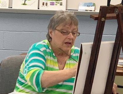 "<p class=""body"">GREENVILE – Artists and community members alike were recently treated to a demonstration on painting trees by award winning, local artist Sandy Cable Barringer. This free demonstration was part of the Guild's yearlong focus on painting the Darke County Parks."
