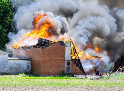 Fire crews worked to keep a two-alarm barn fire from spreading to nearby out-buildings.
