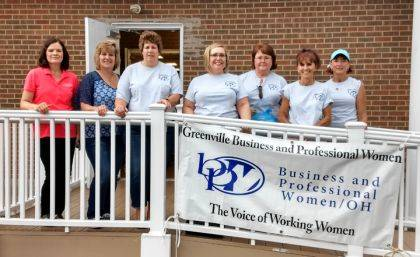 Pictured are BPW members Lucie Pohl, Kim Fisher, Dorothy Poeppelman, Angie DeGideo, Vicki Cost, Susan Fowble, and Deb Niekamp.