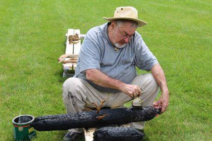 Dr. David Cox worked to preserve several logs believed to have come from Fort Jefferson.