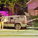 Fireworks may have caused truck fire