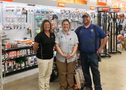 Orme Hardware staff includes Rob Bond, store manager, April Raby, assistant manager, and Michelle Hysong, district manager.