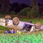 Two injured in rollover