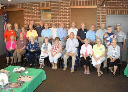 "<p class=""body"">GREENVILLE – The Greenville High School Class of 1954 held its 65th year reunion on July 27 at J.T.'s Bar & Grill. Class members attending were (front row seated) Sarah Jane Brinkman Delk, Shirley Hipple, Ann Hawley Patty, Pat Meckes Faulknor, Shirley Feierstein Linn, Ted Mann, Jo Ann Schumeth Altic, Judy Howard Jones, Barbara Albrecht Landis, (standing) Nancy Brown Warner, Leota Rohr North, Jeanette Funk Patton, Jim Troxell, Peter Hemer, Dennis Neff, Jim Diltz, Jim Oliver, Gary Henderson, Jacque Durr, Keith Barnhardt, Richard Davis, Jim Whittaker, Martha Steffen Kober and Jim Albright. Present but not pictured is Barb Landis Gentry."