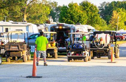 Deputies and first-responders responded to a crash at the Darke County Fairgrounds in regards to a child hit by a golf cart.