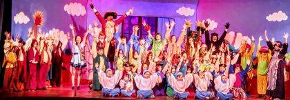 The cast of Peter & Wendy recently performed at St. Clair Memorial Hall.