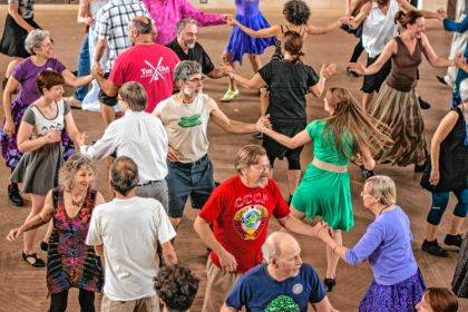 Enjoy a Contra Dance Party in the Hayner Ballroom on Sept. 28.