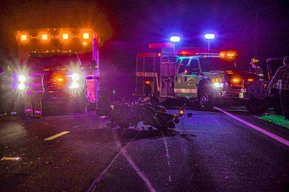 New Madison Fire, Tri-Village Rescue, Greenville Township Rescue, Sheriff Deputies and CareFlight responded to the scene where a motorcycle hit a deer.