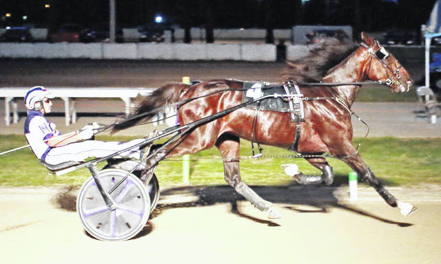 Not The Norm makes it a repeat winner in the Wednesday night races at The Great Darke County Fair.