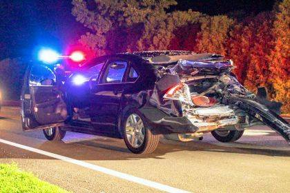 The driver of the Chevrolet Impala was transported to Wane HealthCare for what is believed to be minor injuries.