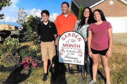 ARCANUM – The Arcanum Garden Club has selected the home of Clinton, Ashley, Bryson and Katie Sharp as the Garden of the Month.
