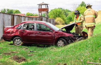 A crash near Dawn sent a teen driver to Wayne HealthCare.