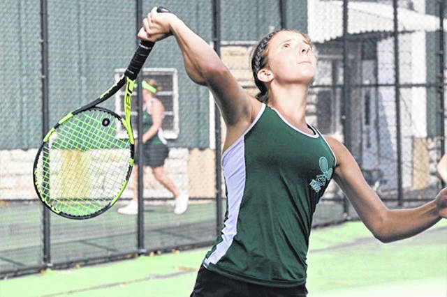 Greenville first singles, Emily Marchal leads the Lady Wave to a non-conference win over the Milton-Union Lady Bulldogs.