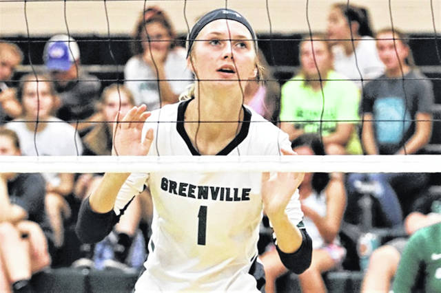 Greenville's Emma Klosterman accounted for 16-kills in the Lady Wave's win over the Sidney Lady Yellow Jackets.