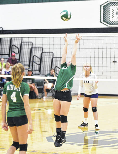 The Greenville Lady Wave junior high volleyball team sweeps Fairborn at home in MVL play.