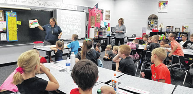 Bethany J. Royer-DeLong | Darke County Media Third-grade students at Mississinawa Valley Elementary School learned about the monarch butterfly and a project they will be participating in with Mandy Martin, naturalist, Darke County Parks, on Wednesday.