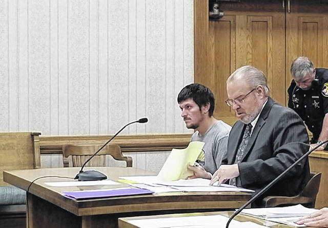 Bethany J. Royer-DeLong | Darke County Media Casey Bowman, 30, of New Weston, went before Judge Hein in Common Pleas Court on Thursday.