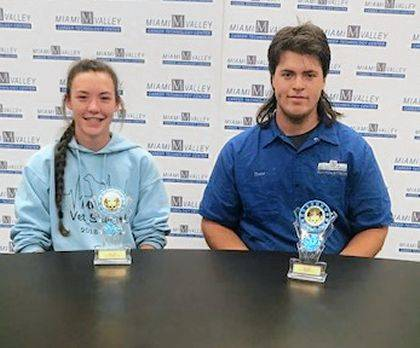 MVCTC Electives, Business, Information Technology, and Agriculture Department September Students of the Month recognized Keara Knepshield (Franklin-Monroe) and Colton Thobe (Tri-Village).