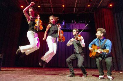The Fitzgeralds, step-dancing fiddling siblings from Canada's Ottawa Valley, will perform for high school students through Arts in Education.