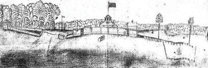 This is an artist's depiction of how Fort Jefferson may have appeared.