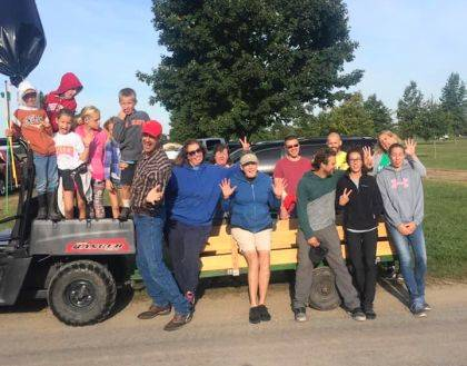DeColores Montessori students and families helped clean-up the fairgrounds.