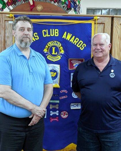 UC Lions President Ed Speight and Jeff Manning, Lions Zone chairman.