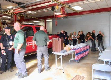 "<p class=""body"">GREENVILLE – In commemoration of the 18th anniversary of the 911 attack, Fort GreeneVille Chapter Daughters of the American Revolution thanked local first responders for serving our communities. In collaboration with Eikenberry's IGA and McDonalds North, donuts and coffee were served on 9-11 at the Greenville City Fire Dept. We should never forget the victims and survivors, as well as the first responders and volunteers who risked their lives to save others on the fateful day of 9-11. For first responders, their dedication of duty to our communities extend to everyday and should be appreciated and recognized."