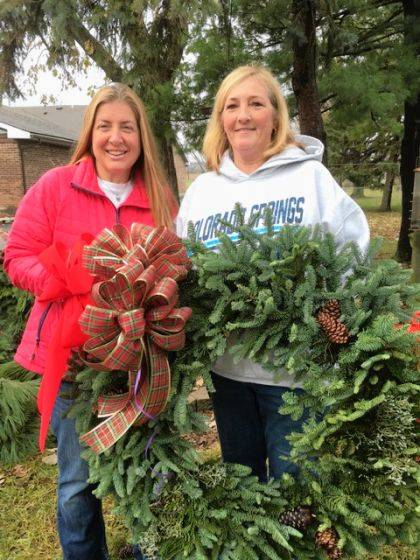 Members of the Ladybug Garden Club and Butterflies Junior Garden Club are currently selling live wreaths for the holidays.